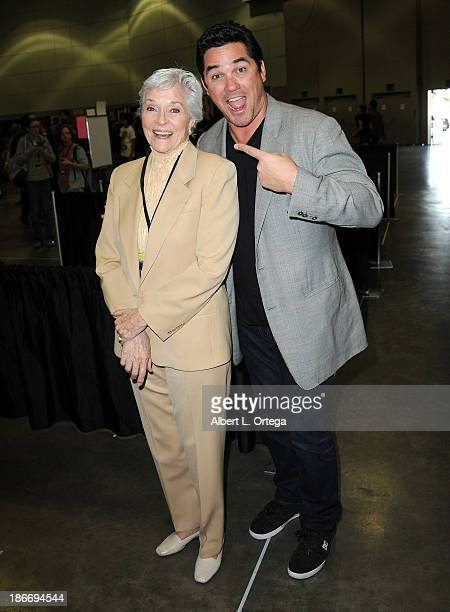 Actress Lee Meriwether and actor Dean Cain attends Stan Lee's Comikaze Expo Presented By POW Entertainment Day 1 held at Los Angeles Convention...
