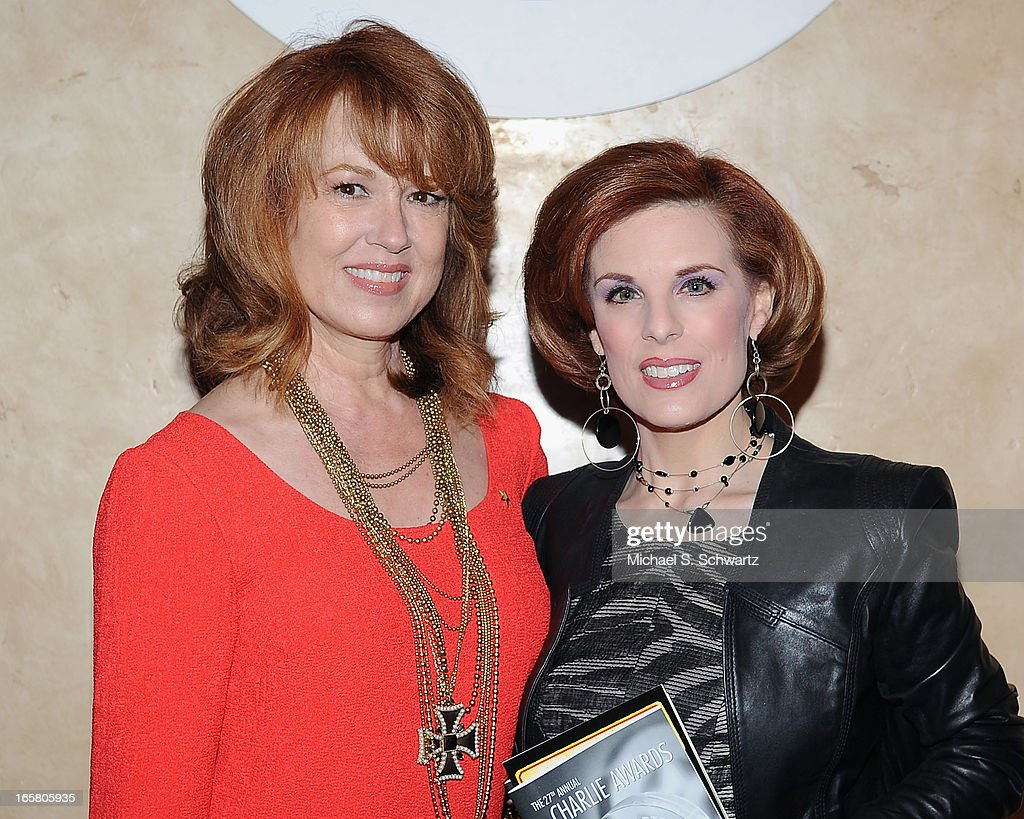 Actress Lee Purcell (L) and actress Kat Kramer attend the Hollywood Arts Council's 27th Annual Charlie Awards Luncheon at the Hollywood Roosevelt Hotel on April 5, 2013 in Hollywood, California.