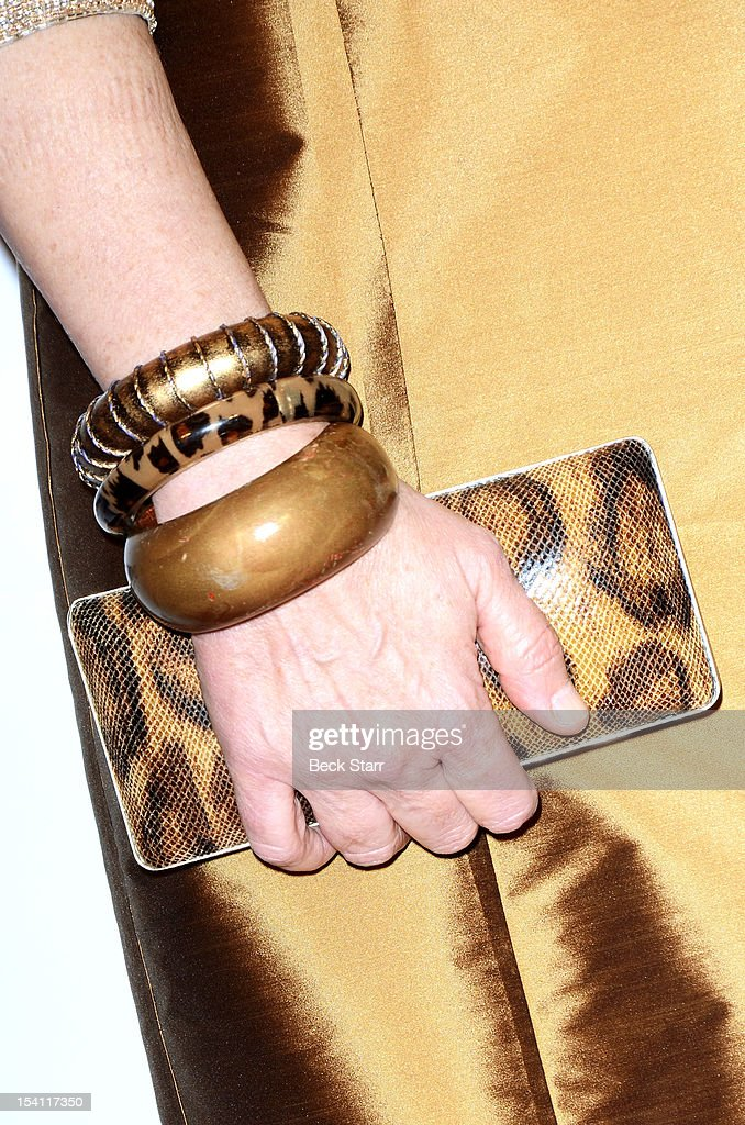 Actress Lee Purcell (purse detail) arrives at the 2012 Outfest Legacy Awards at Orpheum Theatre on October 13, 2012 in Los Angeles, California.