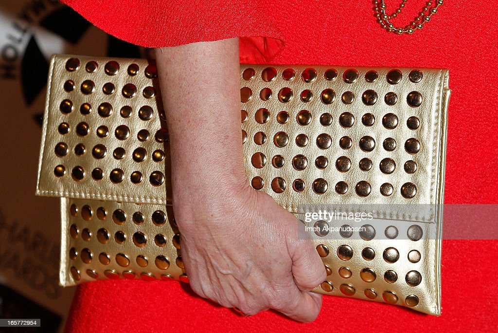 Actress Lee Purcell (clutch detail) attends Hollywood Arts Council's 27th Annual Charlie Awards Luncheon at Hollywood Roosevelt Hotel on April 5, 2013 in Hollywood, California.