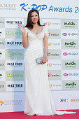 Actress Lee TaeIm attends the 5th Gaon Chart KPop Awards on February 17 2016 in Seoul South Korea