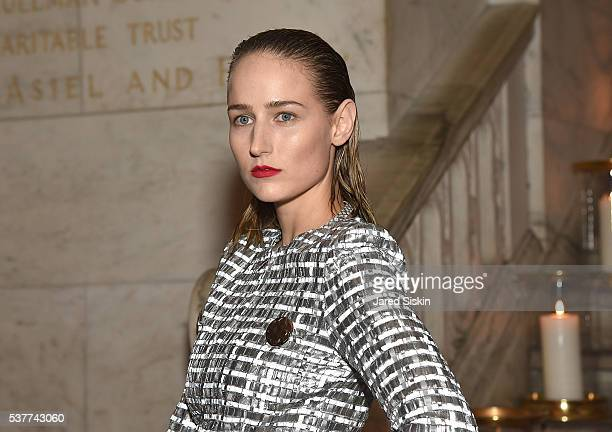 Actress Leelee Sobieski attends as CHANEL Fine Jewelry Celebrates The New York Public Library Treasures Collection at The New York Public Library on...