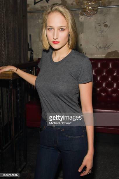 Actress Leelee Sobieski attends the Adam Kimmel x Carhartt party at Don Hill's on February 16 2011 in New York City