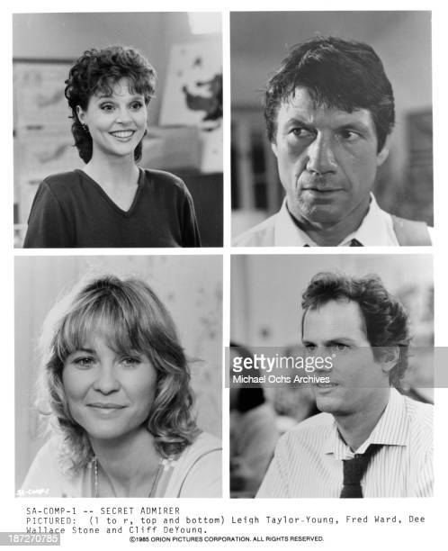 Actress Leigh TaylorYoung and actor Fred Ward Actress Dee Wallace and actor Cliff De Young on set of the Orion Picture movie 'Secret Admirer' in 1985