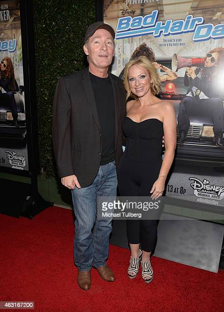 Actress LeighAllyn Baker and guest attend the Los Angeles premiere of the Disney Channel Original Movie 'Bad Hair Day' at Walt Disney Studios on...