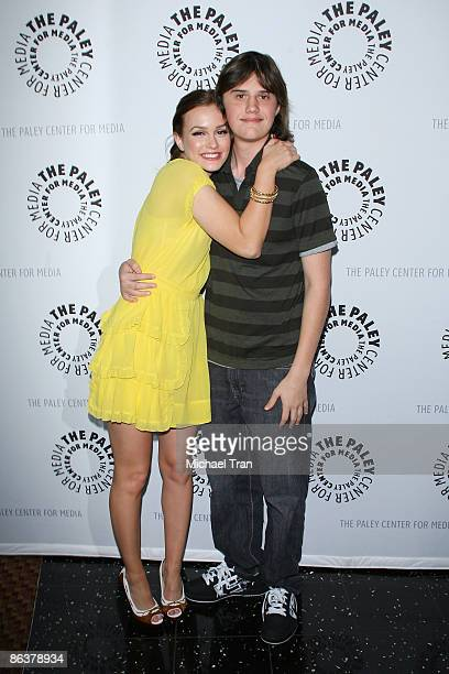 Actress Leighton Meester and her brother Douglas Meester arrive at the 25th Annual Williams S Paley TV Festival featuring 'Gossip Girl' held at...