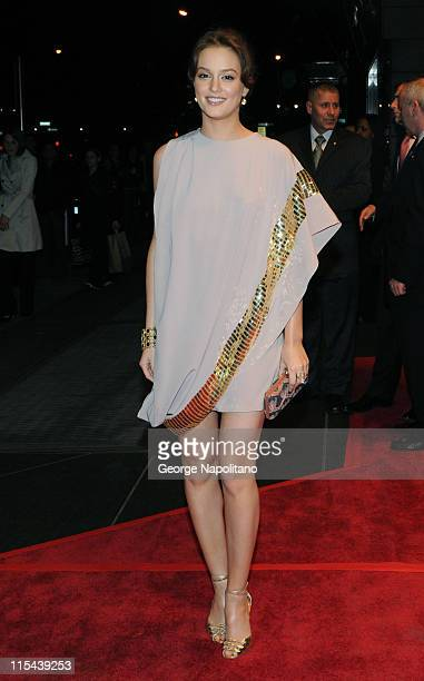 Actress Leighton Meester arrives at New Yorkers for Children Celebrates New Year's in April A Fool's Fete on April 16 2008 at the Mandarin Oriental...