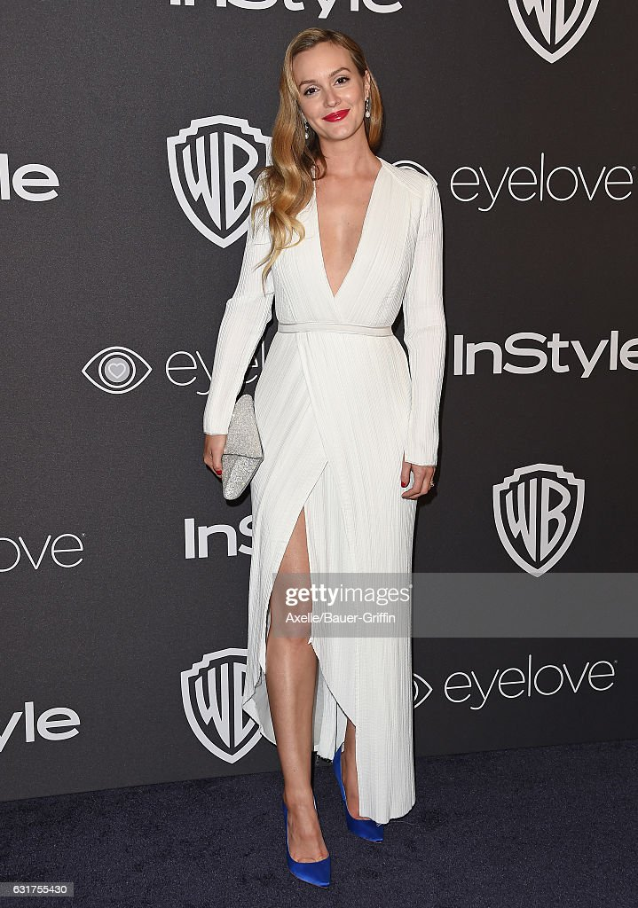 Actress Leighton Meester arrives at the 18th Annual Post-Golden Globes Party hosted by Warner Bros. Pictures and InStyle at The Beverly Hilton Hotel on January 8, 2017 in Beverly Hills, California.