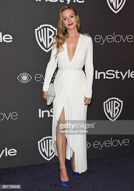 Actress Leighton Meester arrives at the 18th Annual PostGolden Globes Party hosted by Warner Bros Pictures and InStyle at The Beverly Hilton Hotel on...