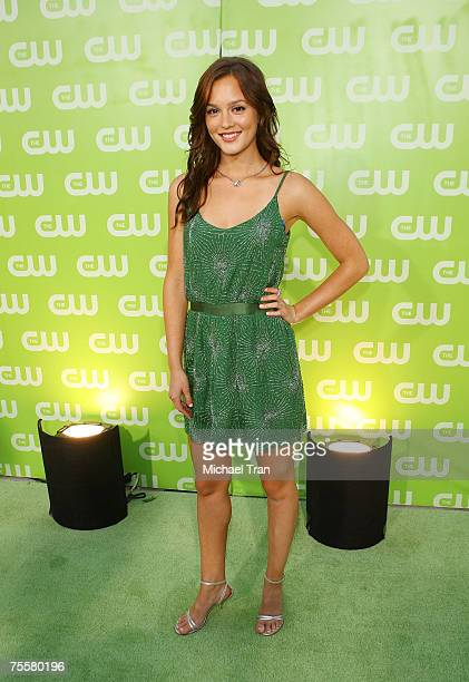 Actress Leighton Meester arrives to The CW Summer Tour Party at the Pacific Design Center on July 20 2007 in West Hollywood California