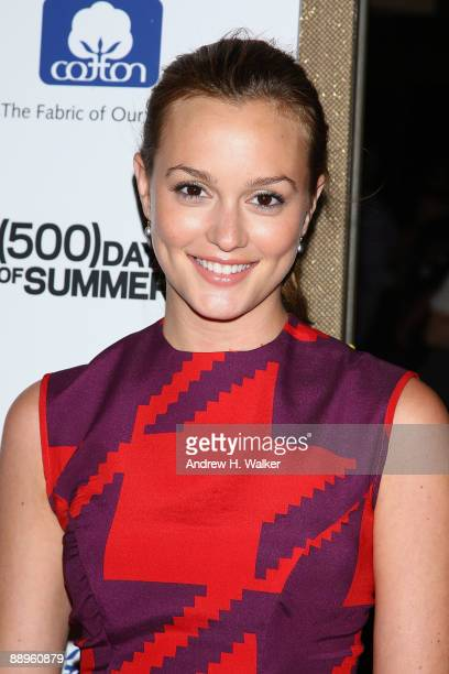 Actress Leighton Meester attends a screening of '500 Days Of Summer' hosted by The Cinema Society with Brooks Brothers and Cotton at the Tribeca...