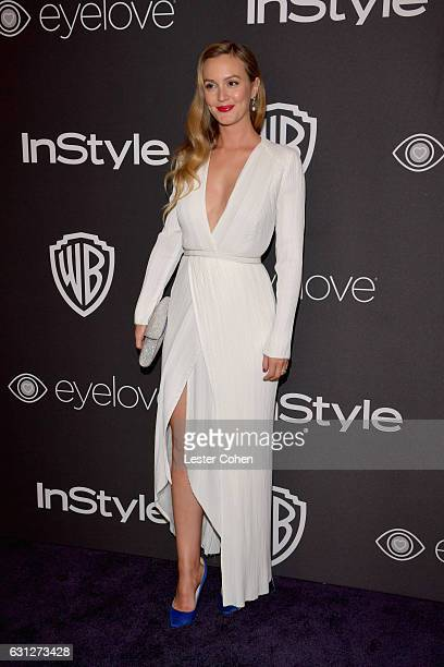 Actress Leighton Meester attends the 18th Annual PostGolden Globes Party hosted by Warner Bros Pictures and InStyle at The Beverly Hilton Hotel on...