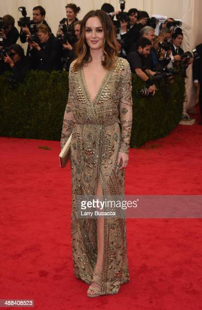 Actress Leighton Meester attends the 'Charles James Beyond Fashion' Costume Institute Gala at the Metropolitan Museum of Art on May 5 2014 in New...