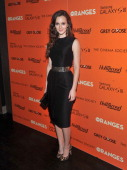 Actress Leighton Meester attends The Cinema Society with The Hollywood Reporter Samsung Galaxy S III screening of 'The Oranges' at Tribeca Grand...