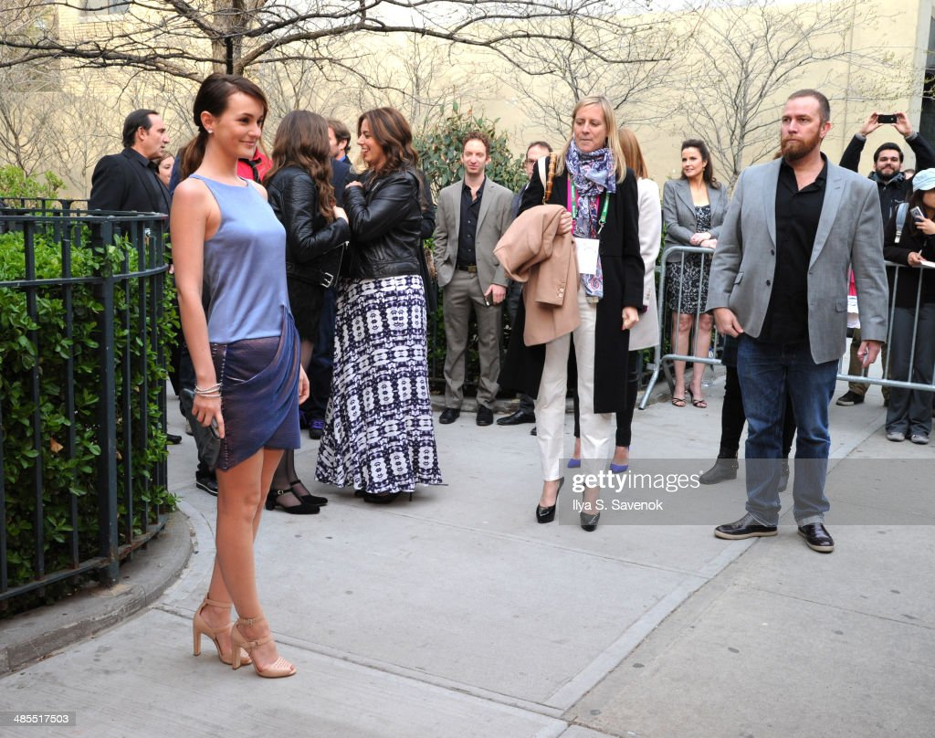Actress <a gi-track='captionPersonalityLinkClicked' href=/galleries/search?phrase=Leighton+Meester&family=editorial&specificpeople=3947554 ng-click='$event.stopPropagation()'>Leighton Meester</a> attends the 'Life Partners' Premiere during the 2014 Tribeca Film Festival at the SVA Theater on April 18, 2014 in New York City.