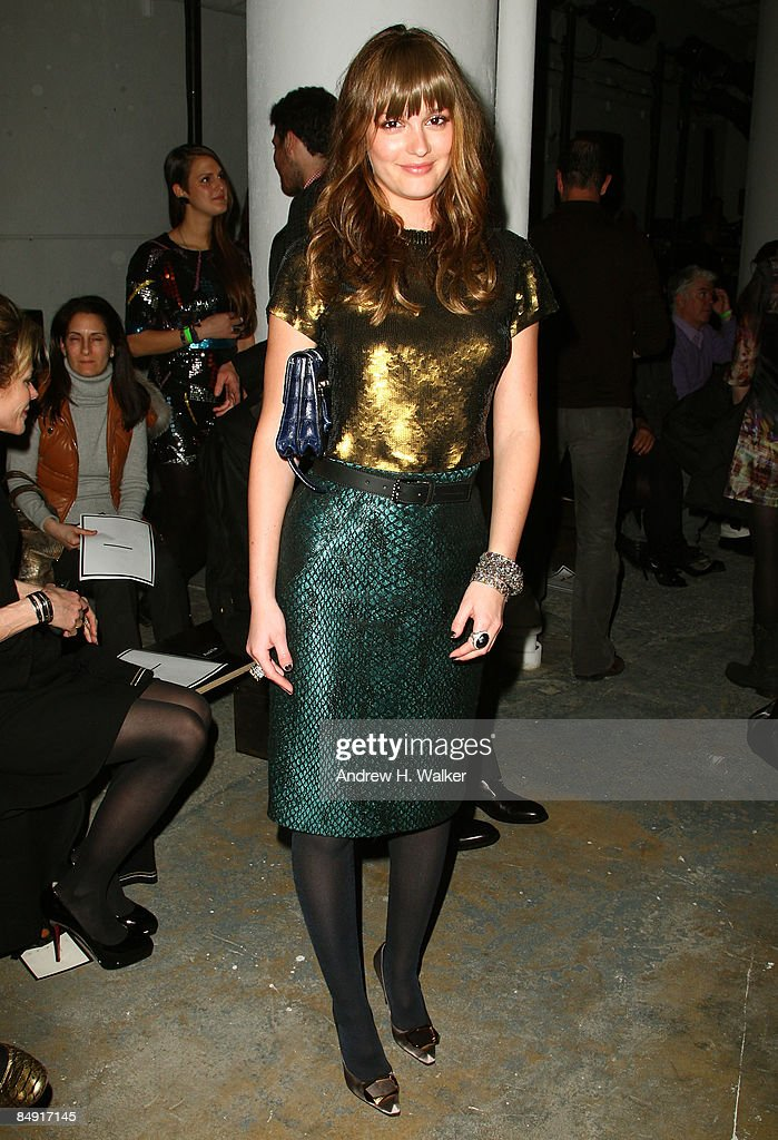 Actress Leighton Meester attends the Proenza Schouler Fall 2009 fashion show during MercedesBenz Fashion Week on February 18 2009 in New York City