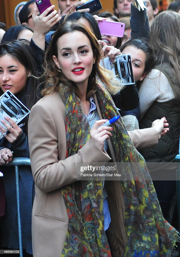 Actress <a gi-track='captionPersonalityLinkClicked' href=/galleries/search?phrase=Leighton+Meester&family=editorial&specificpeople=3947554 ng-click='$event.stopPropagation()'>Leighton Meester</a> is seen on March 22, 2014 in New York City.