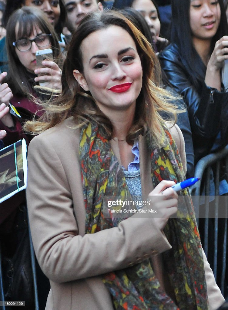 Actress Leighton Meester is seen on March 22, 2014 in New York City.