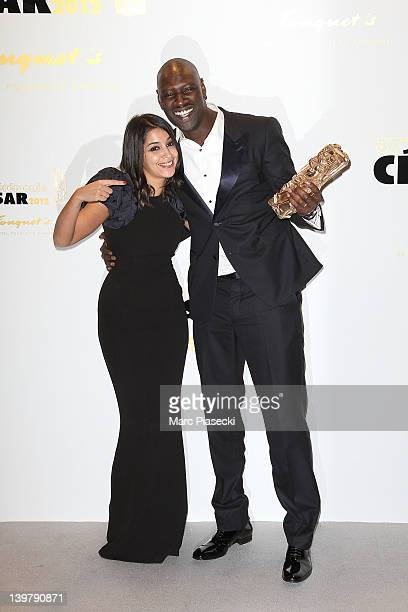 Actress Leila Bekhti and actor Omar Sy attend the 37th Cesar Film Awards at Theatre du Chatelet on February 24 2012 in Paris France