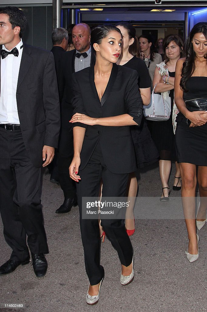Actress Leila Bekhti is sighting leaving the 'Palais des Festivals' after the 'Palme d'Or' ceremony on May 22, 2011 in Cannes, France.