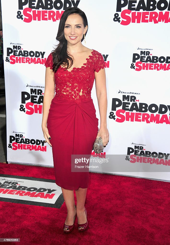 Actress Leila Birch arrives at the Premiere of Twentieth Century Fox and DreamWorks Animation's 'Mr. Peabody & Sherman' at Regency Village Theatre on March 5, 2014 in Westwood, California.