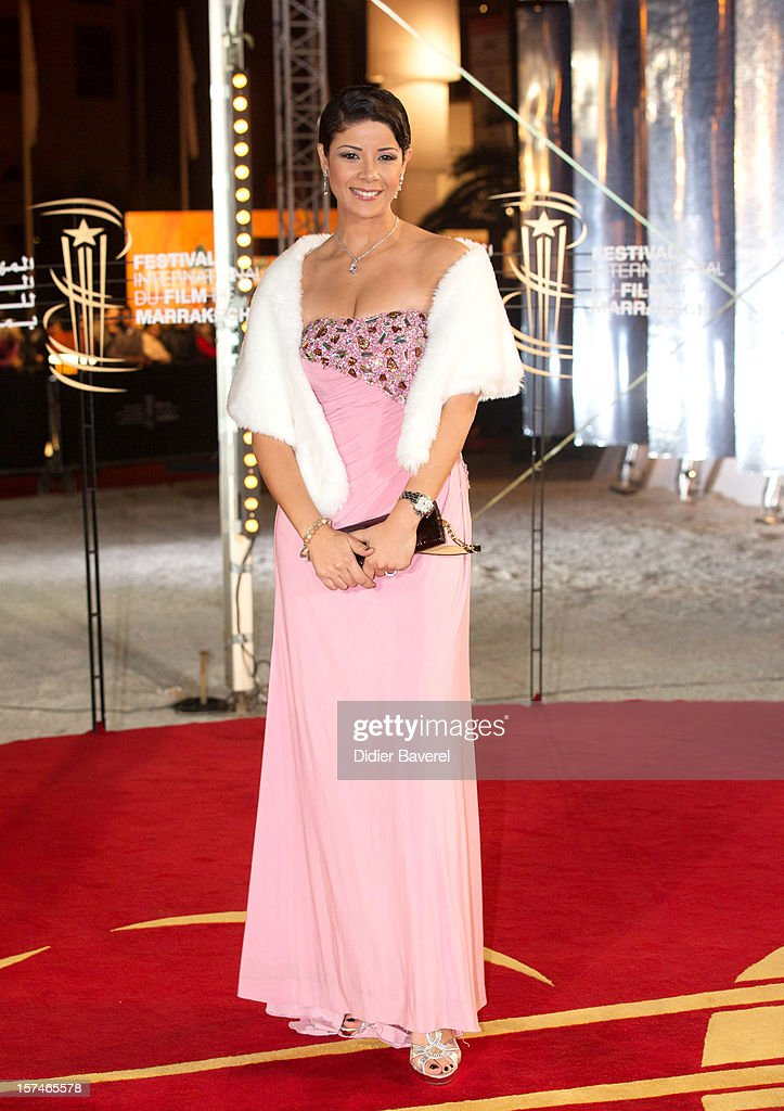 Actress Leila Hadioui attends the 12th International Marrakech Film Festival on December 3, 2012 in Marrakech, Morocco.