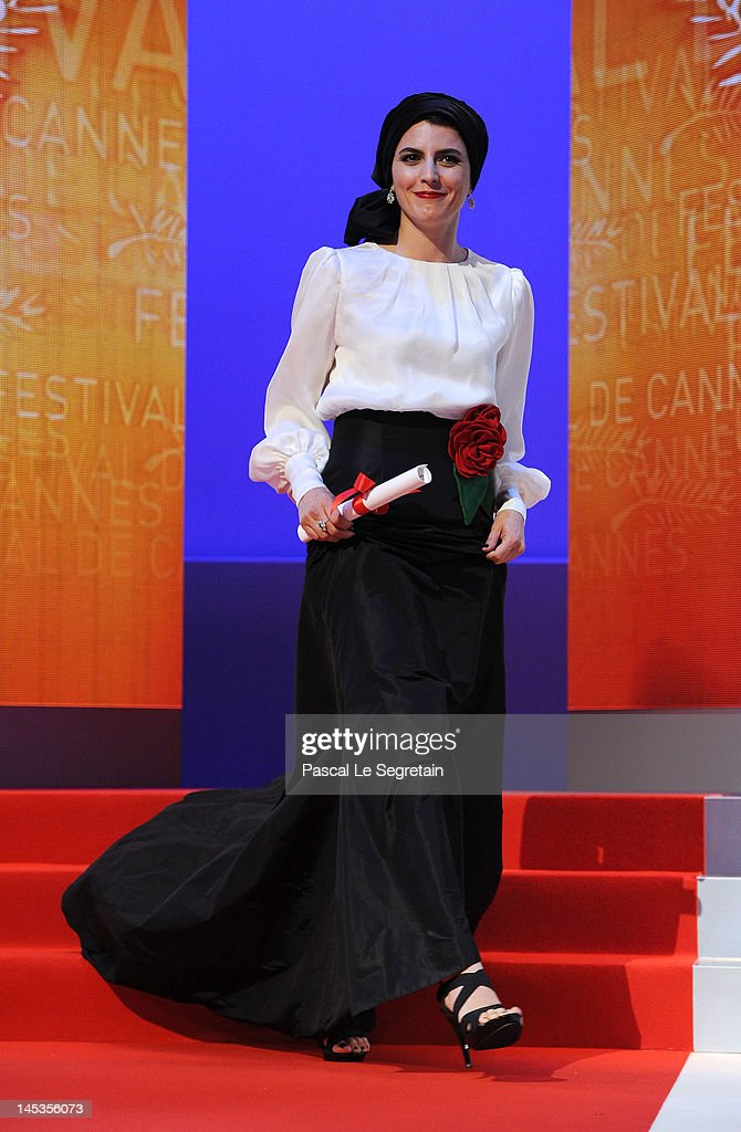 Actress <a gi-track='captionPersonalityLinkClicked' href=/galleries/search?phrase=Leila+Hatami&family=editorial&specificpeople=7082232 ng-click='$event.stopPropagation()'>Leila Hatami</a> appears onstage at the Closing Ceremony during the 65th Annual Cannes Film Festival on May 27, 2012 in Cannes, France.