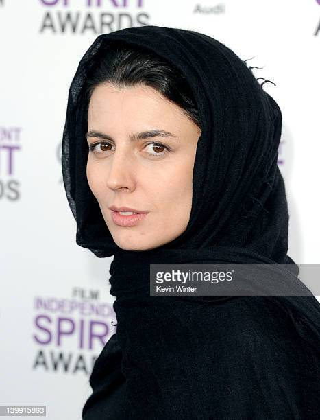 Actress Leila Hatami arrives at the 2012 Film Independent Spirit Awards on February 25 2012 in Santa Monica California