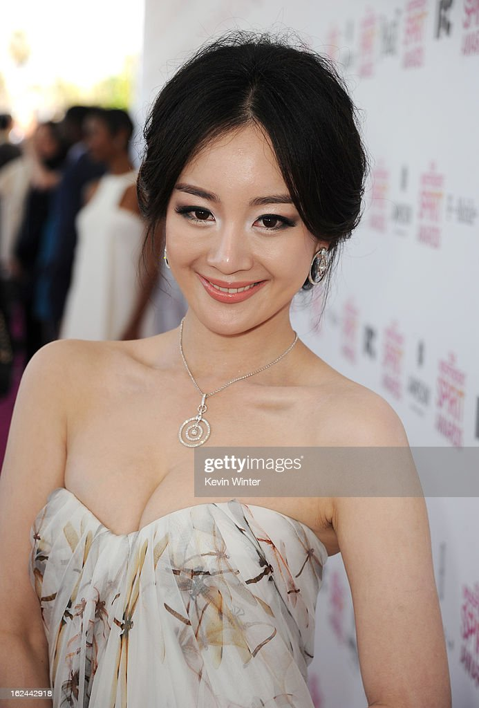 Actress Lemon Zhang attends the 2013 Film Independent Spirit Awards at Santa Monica Beach on February 23, 2013 in Santa Monica, California.