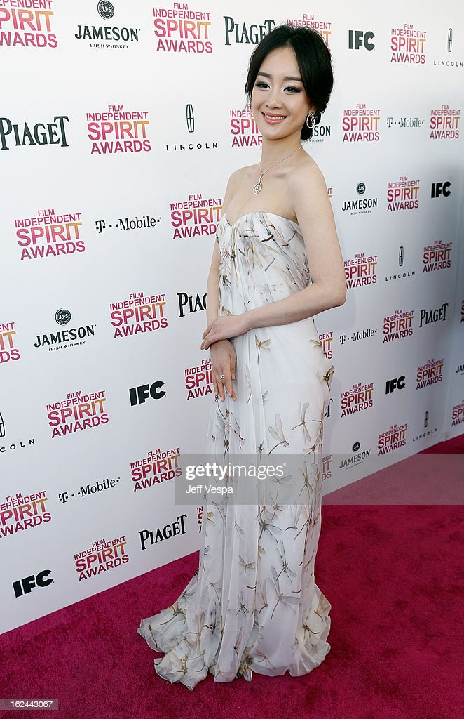 Actress Lemon Zhang attends the 2013 Film Independent Spirit Awards at Santa Monica Beach on February 23, 2013 in Santa Monica, California.