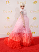 Actress Lena Dunham arrives at the 66th Annual Primetime Emmy Awards at Nokia Theatre LA Live on August 25 2014 in Los Angeles California