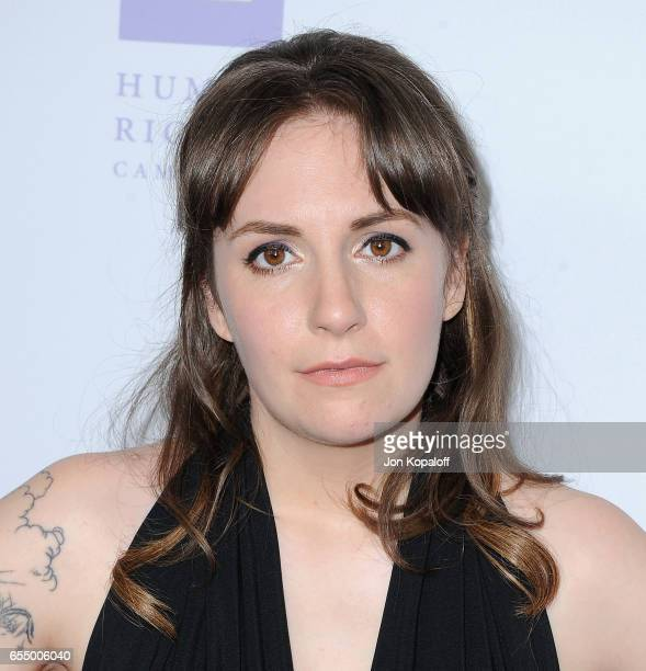 Actress Lena Dunham arrives at the Human Rights Campaign's 2017 Los Angeles Gala Dinner at JW Marriott Los Angeles at LA LIVE on March 18 2017 in Los...