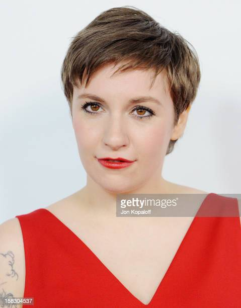 Actress Lena Dunham arrives at the Los Angeles Premiere 'This Is 40' at Grauman's Chinese Theatre on December 12 2012 in Hollywood California