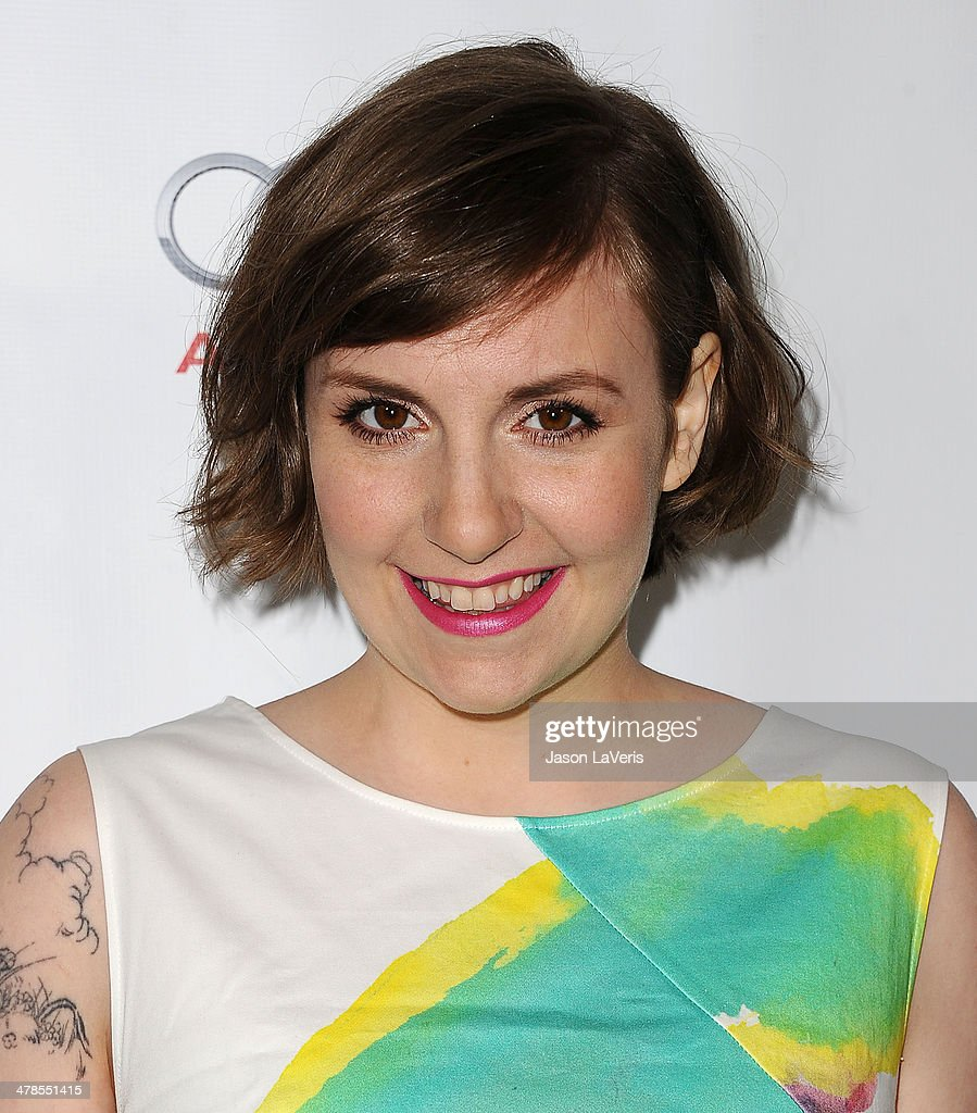 Actress <a gi-track='captionPersonalityLinkClicked' href=/galleries/search?phrase=Lena+Dunham&family=editorial&specificpeople=5836535 ng-click='$event.stopPropagation()'>Lena Dunham</a> attends an evening with 'Girls' at Leonard H. Goldenson Theatre on March 13, 2014 in North Hollywood, California.