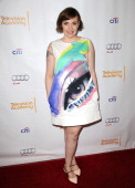 Actress Lena Dunham attends an evening with 'Girls' at Leonard H Goldenson Theatre on March 13 2014 in North Hollywood California