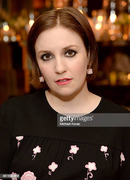 Actress Lena Dunham attends ELLE's Annual Women in Television Celebration on January 13 2015 at Sunset Tower in West Hollywood California Presented...