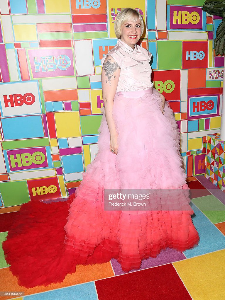 Actress Lena Dunham attends HBO's Annual Primetime Emmy Awards Post Awards Reception at The Plaza at the Pacific Design Center on August 25 2014 in...