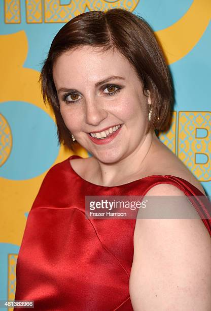 Actress Lena Dunham attends HBO's Post 2015 Golden Globe Awards Party at Circa 55 Restaurant on January 11 2015 in Los Angeles California