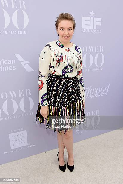 Actress Lena Dunham attends the 24th annual Women in Entertainment Breakfast hosted by The Hollywood Reporter at Milk Studios on December 9 2015 in...