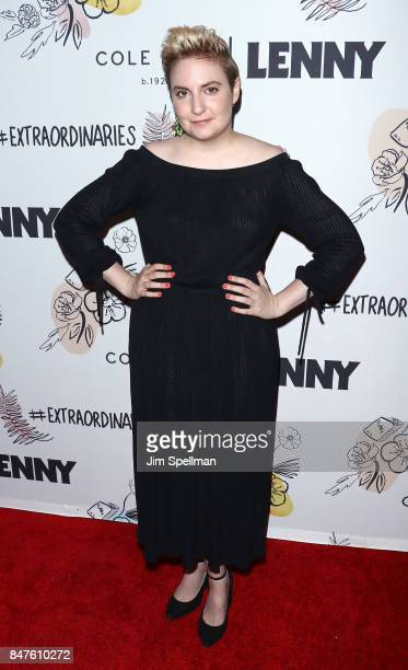 Actress Lena Dunham attends The 2nd Anniversary Party for Lenny in partnership with Cole Haan at The Jane Hotel on September 15 2017 in New York City