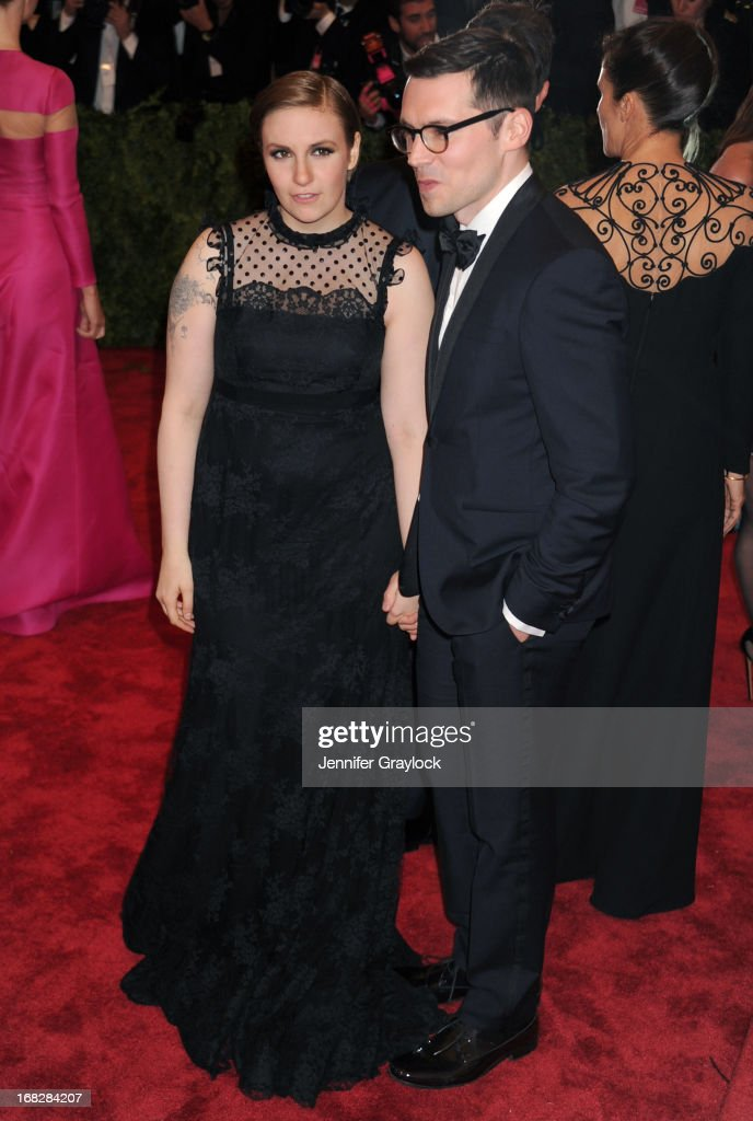 Actress Lena Dunham attends the Costume Institute Gala for the 'PUNK: Chaos to Couture' exhibition at the Metropolitan Museum of Art on May 6, 2013 in New York City.