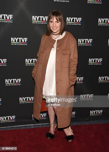 Actress Lena Dunham attends the creative keynote 'A Conversation With 'Girls'' during the12th Annual New York Television Festival at SVA Theater on...