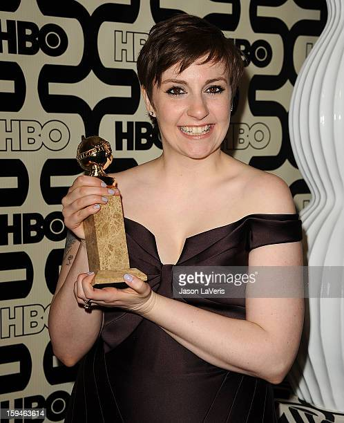 Actress Lena Dunham attends the HBO after party at the 70th annual Golden Globe Awards at Circa 55 restaurant at the Beverly Hilton Hotel on January...