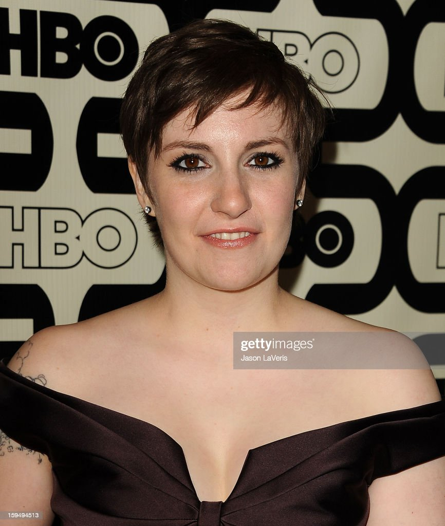 Actress Lena Dunham attends the HBO after party at the 70th annual Golden Globe Awards at Circa 55 restaurant at the Beverly Hilton Hotel on January 13, 2013 in Los Angeles, California.