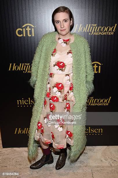 Actress Lena Dunham attends The Hollywood Reporter's 5th Annual 35 Most Powerful People in New York Media on April 6 2016 in New York City