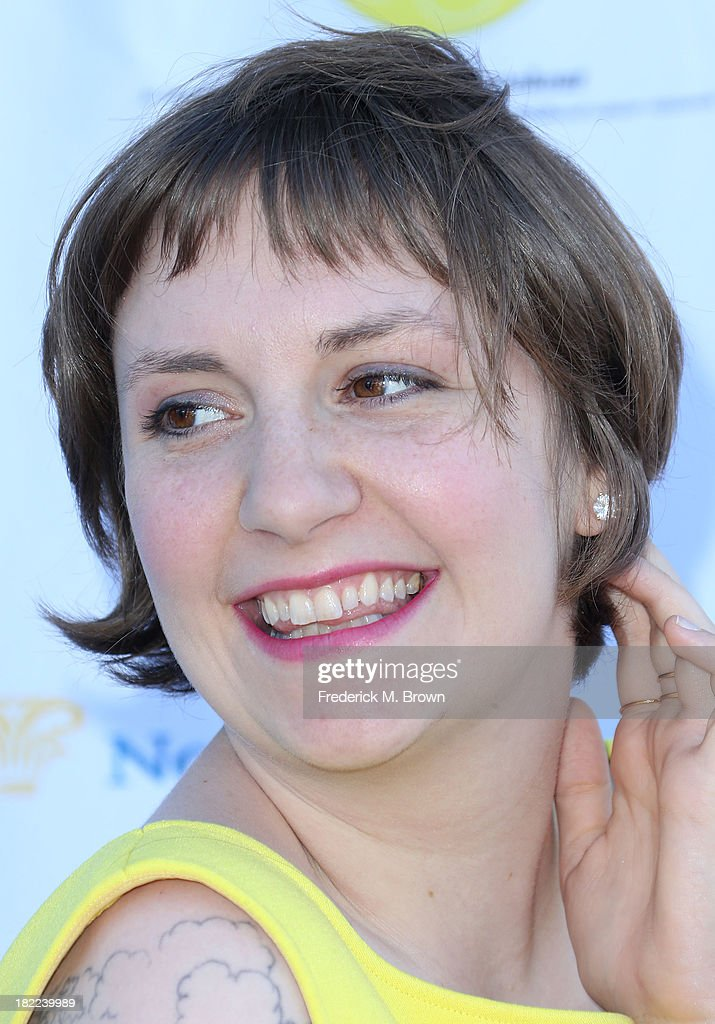 Actress Lena Dunham attends the L.A. Loves Alex's Lemonade Event at the Culver Studios on September 28, 2013 in Culver City, California.