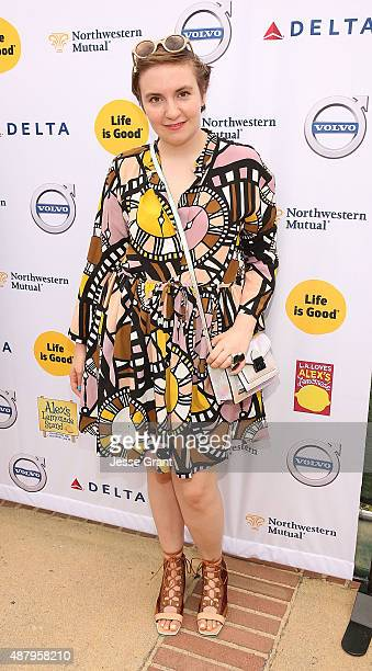 Actress Lena Dunham attends the LA Loves Alex's Lemonade event supported by Life Is Good at UCLA on September 12 2015 in Los Angeles California