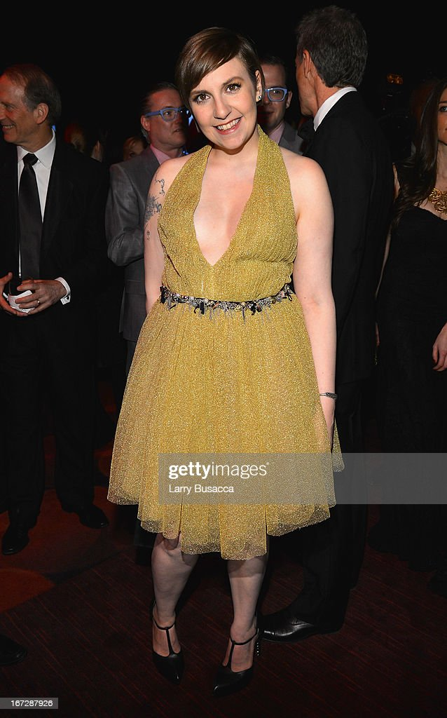 Actress <a gi-track='captionPersonalityLinkClicked' href=/galleries/search?phrase=Lena+Dunham&family=editorial&specificpeople=5836535 ng-click='$event.stopPropagation()'>Lena Dunham</a> attends the TIME 100 Gala, TIME'S 100 Most Influential People In The World reception at Jazz at Lincoln Center on April 23, 2013 in New York City.
