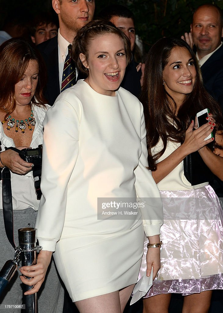 Actress <a gi-track='captionPersonalityLinkClicked' href=/galleries/search?phrase=Lena+Dunham&family=editorial&specificpeople=5836535 ng-click='$event.stopPropagation()'>Lena Dunham</a> attends the Young New York Fundraiser in support of Scott Stringer for NYC Comptroller at Maritime Hotel on August 6, 2013 in New York City.