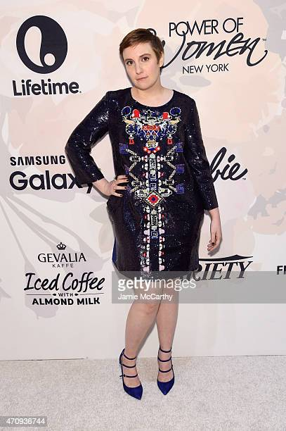 Actress Lena Dunham attends Variety's Power of Women New York presented by Lifetime at Cipriani 42nd Street on April 24 2015 in New York City
